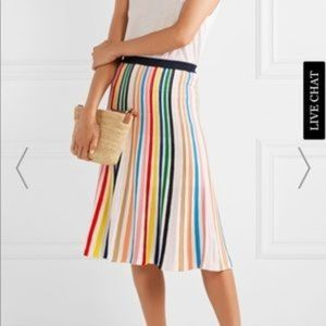 J CREW Rainbow Stripe Pull-On Flare Skirt Size XXS
